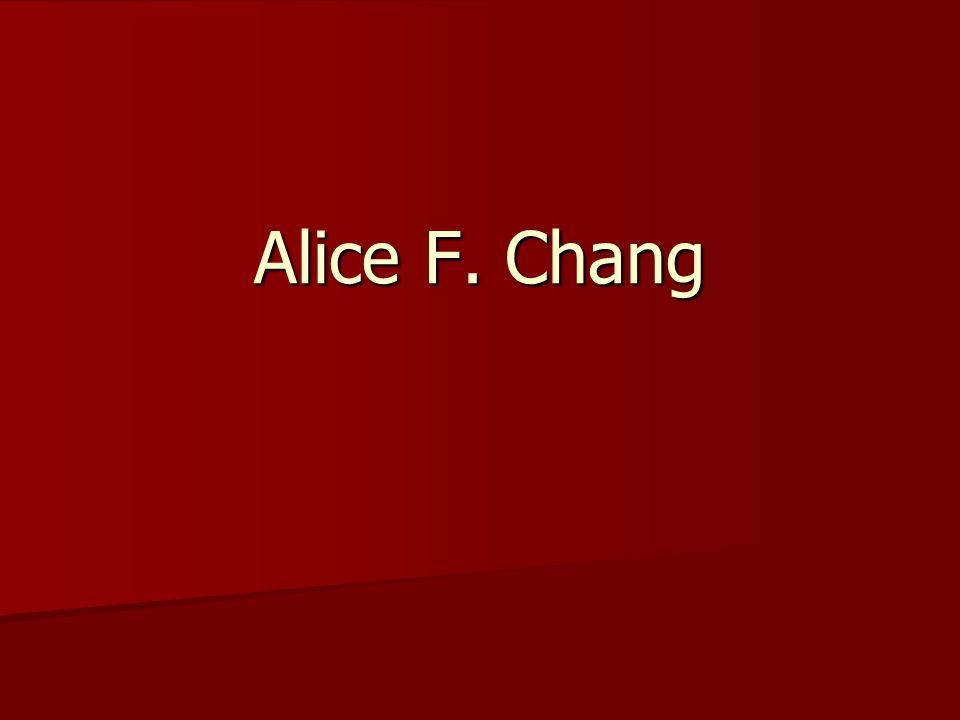 Alice F. Chang