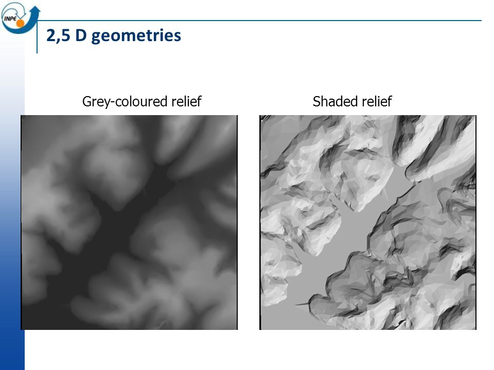 Grey-coloured reliefShaded relief
