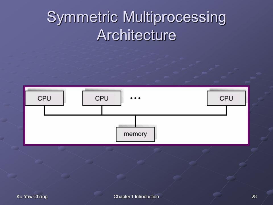 28Ku-Yaw ChangChapter 1 Introduction Symmetric Multiprocessing Architecture