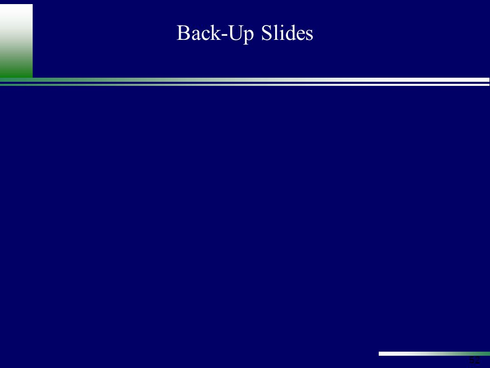 52 Back-Up Slides