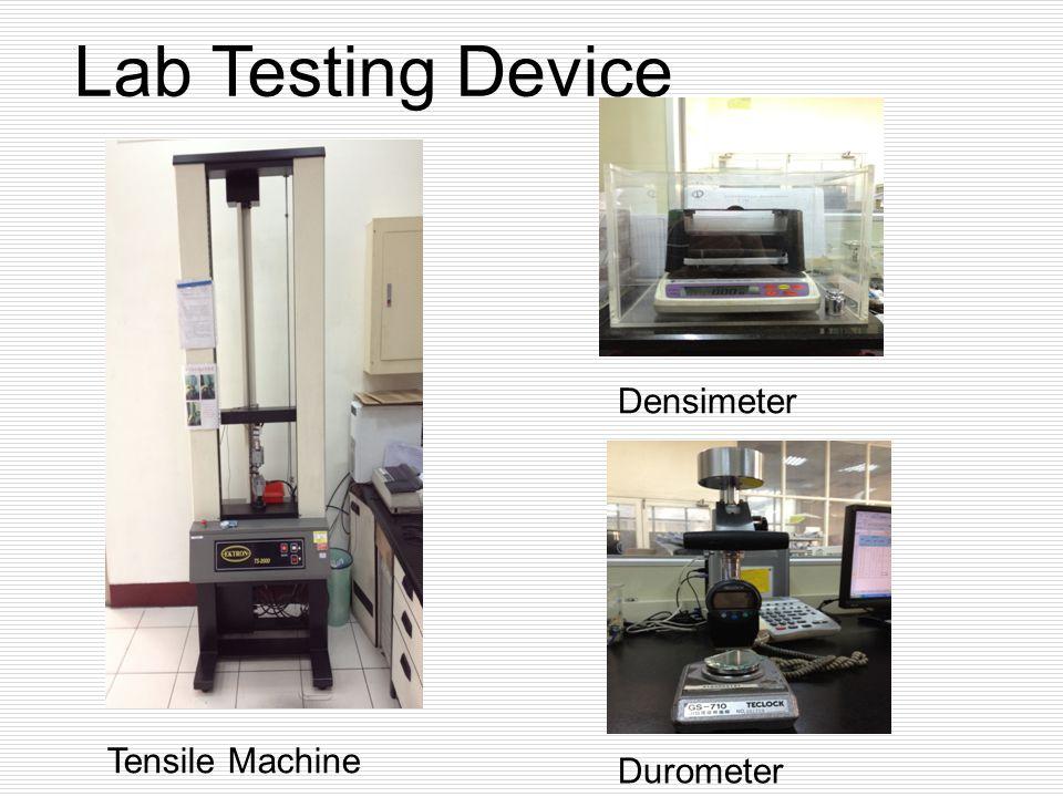 Tensile Machine Durometer Densimeter Lab Testing Device