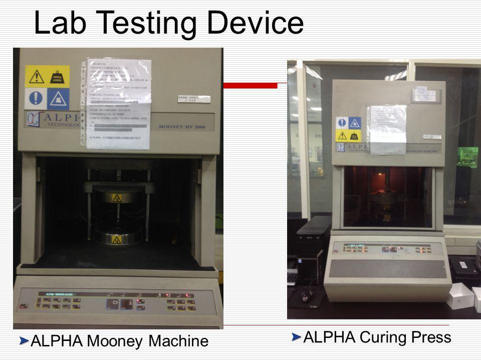 ALPHA Curing Press ALPHA Mooney Machine Lab Testing Device