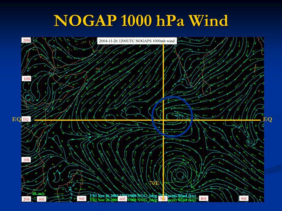 NOGAP 1000 hPa Wind EQ 70E