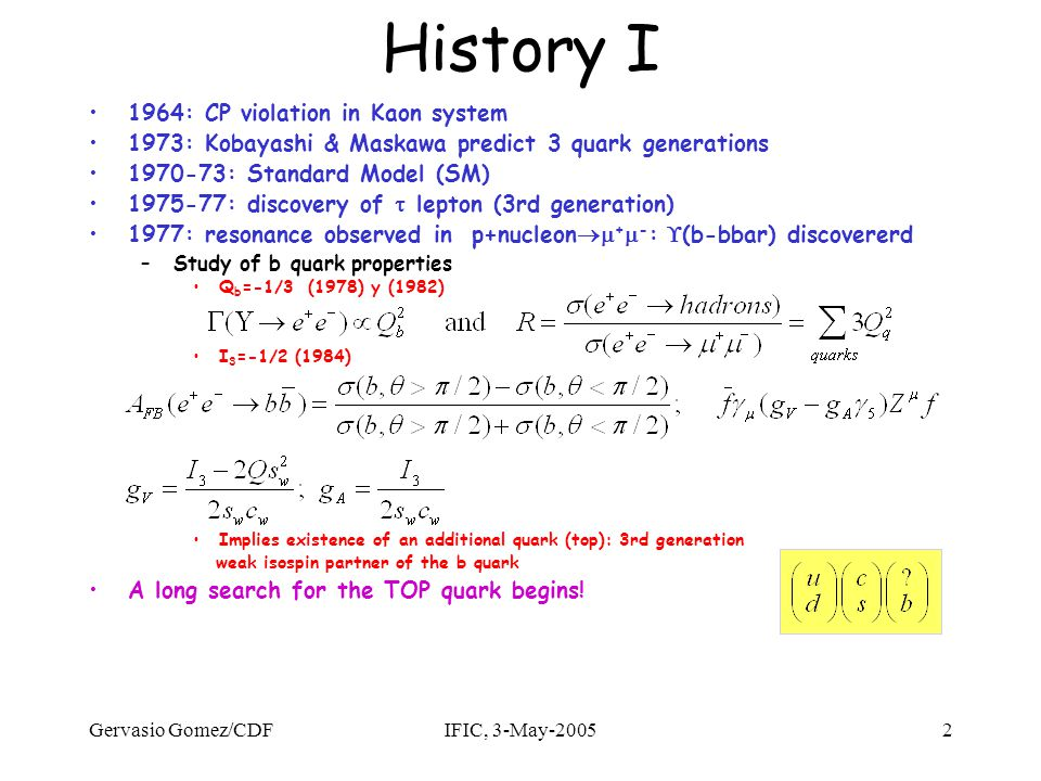 Gervasio Gomez/CDFIFIC, 3-May-200543 Mass: D0 RunI m t = 180.1  3.6(stat)  3.9(syst) GeV/c 2 Statistical uncertainty reduced: 5.6 to 3.6 GeV/c 2 –Equivalent to Lx2.4 .