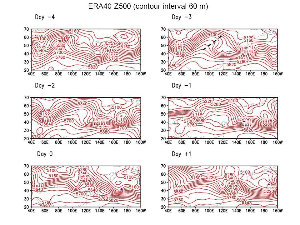 ERA40 Z500 (contour interval 60 m)