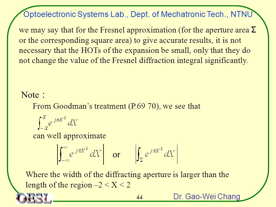 Optoelectronic Systems Lab., Dept. of Mechatronic Tech., NTNU Dr.