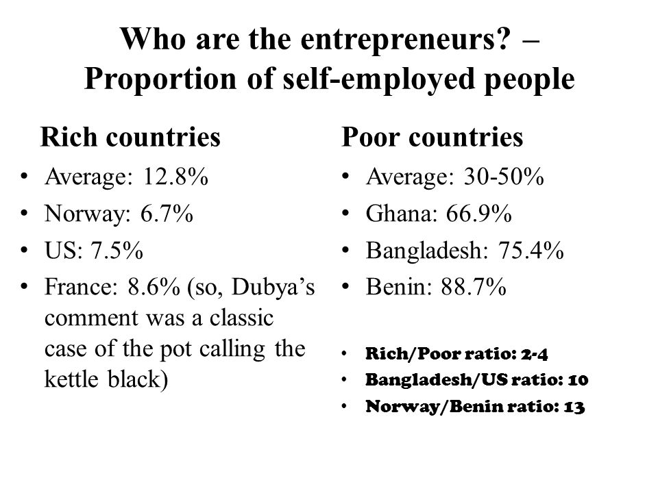 Who are the entrepreneurs.