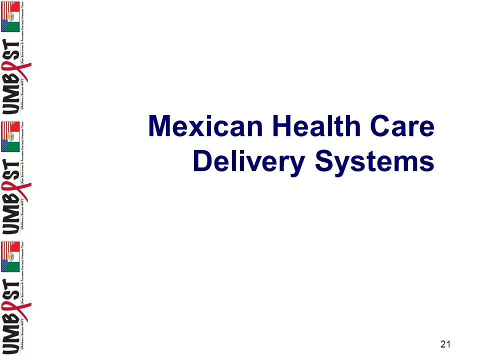 21 Mexican Health Care Delivery Systems