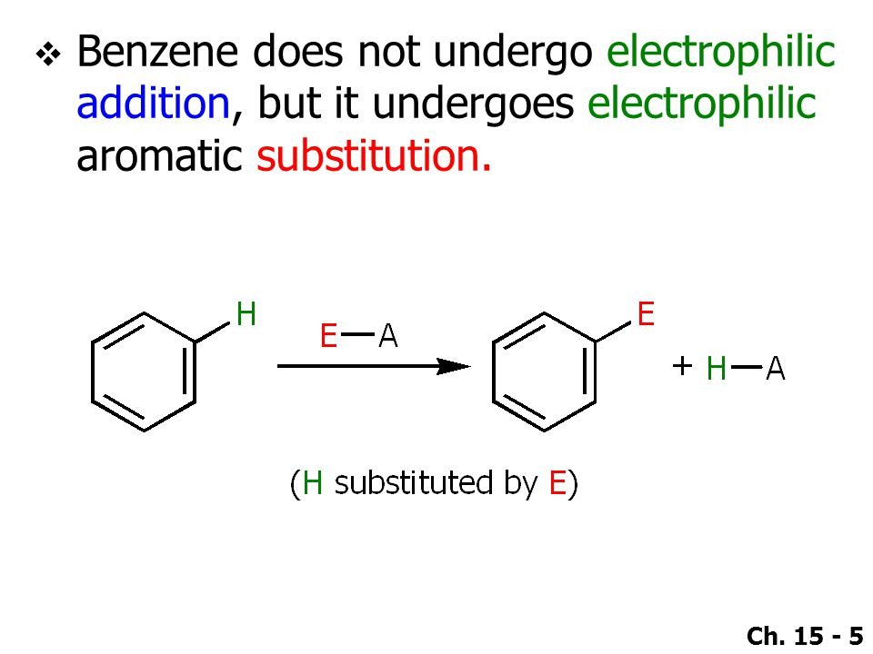 Ch. 15 - 56 ●Reactivity towards electrophilic aromatic substitution.
