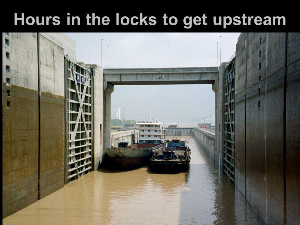 Hours in the locks to get upstream