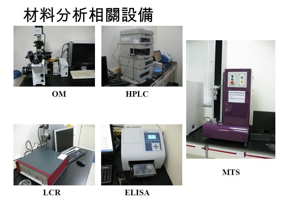 OMHPLC MTS LCRELISA 材料分析相關設備