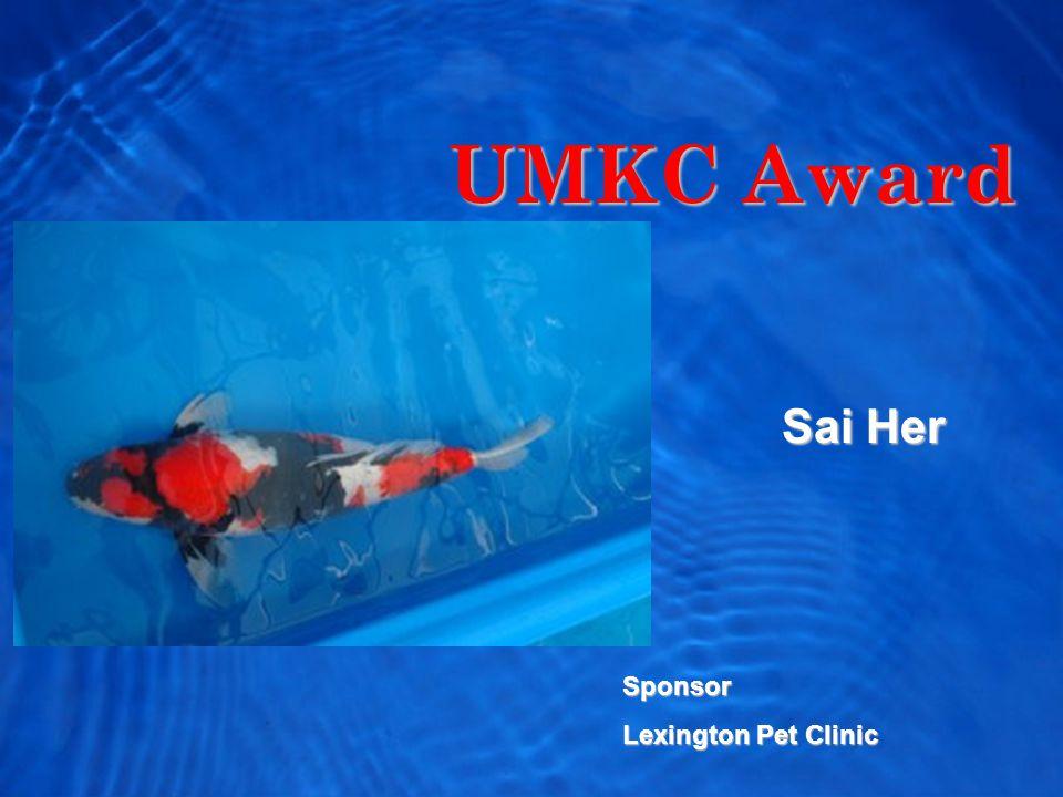 UMKC Award Sai Her Sponsor Lexington Pet Clinic