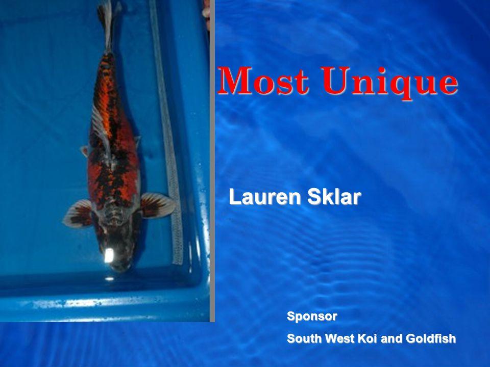 Most Unique Lauren Sklar Sponsor South West Koi and Goldfish