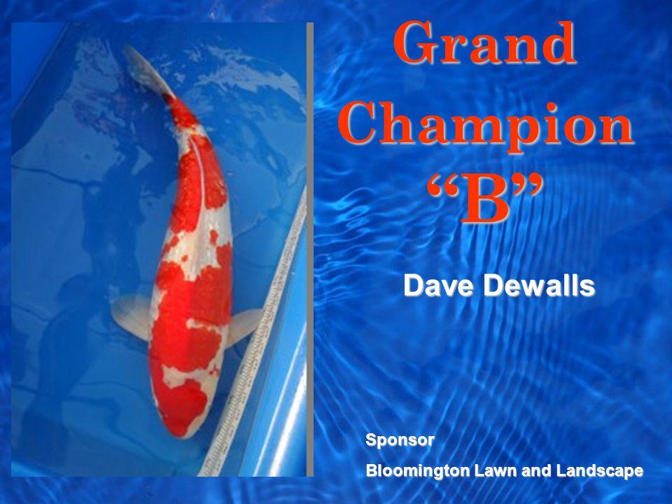 Grand Champion B Sponsor Bloomington Lawn and Landscape Dave Dewalls