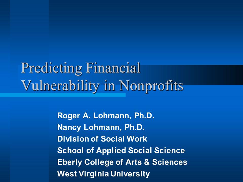 Predicting Financial Vulnerability in Nonprofits Roger A.