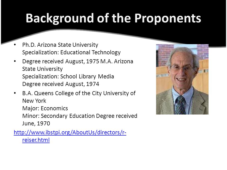 Background of the Proponents Ph.D.