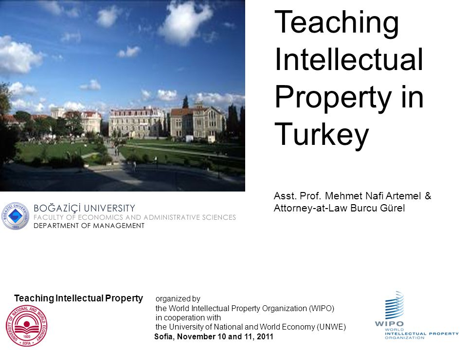 Inventory of IP courses in Turkish Universities Conducted by Asst.