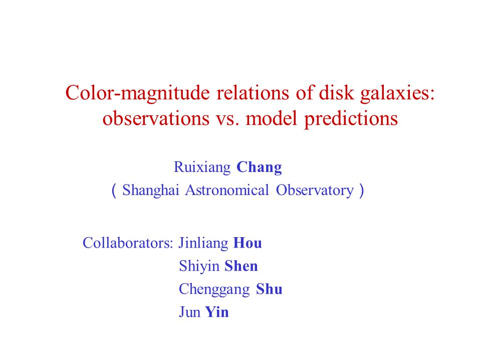 Color-magnitude relations of disk galaxies: observations vs.