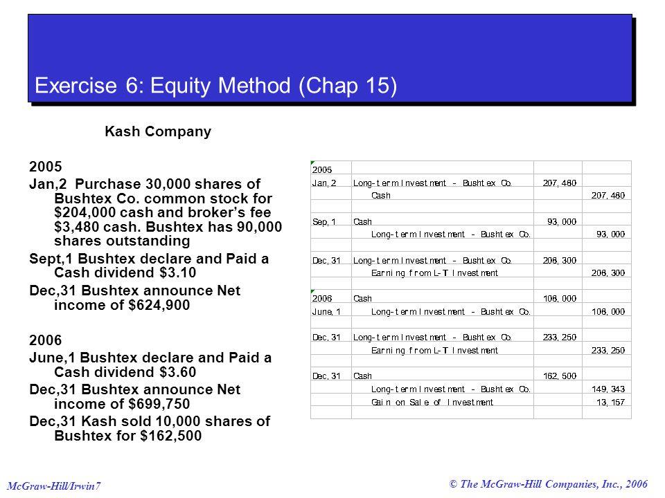 © The McGraw-Hill Companies, Inc., 2006 McGraw-Hill/Irwin8 Exercise 7: Trading Portfolio (Chap 15) Dec,27,2005 Forex Co.