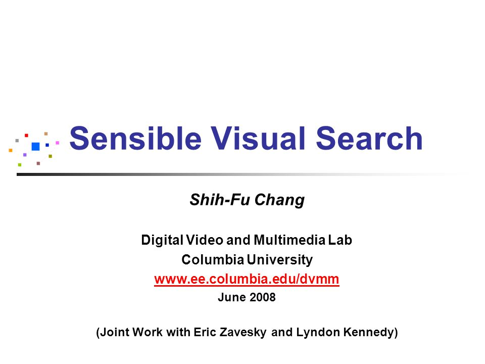 A prototype CuZero: Zero-Latency Informed Search & Navigation (Zavesky and Chang, MIR2008)
