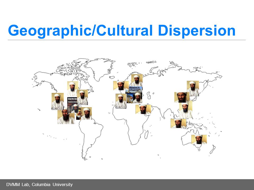 DVMM Lab, Columbia University Geographic/Cultural Dispersion