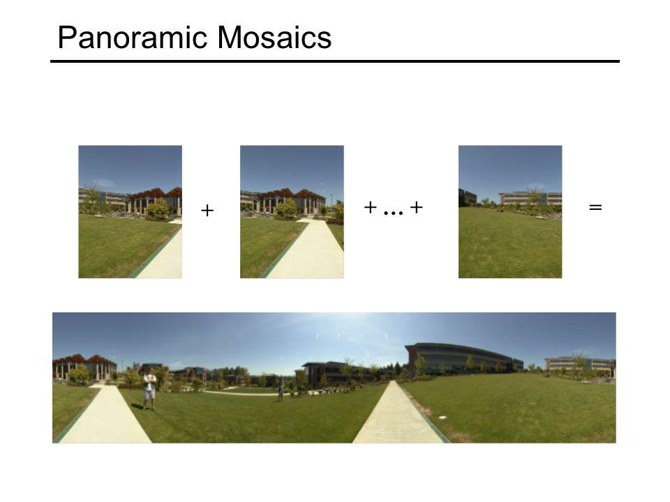 Panoramic Mosaics + + … +=