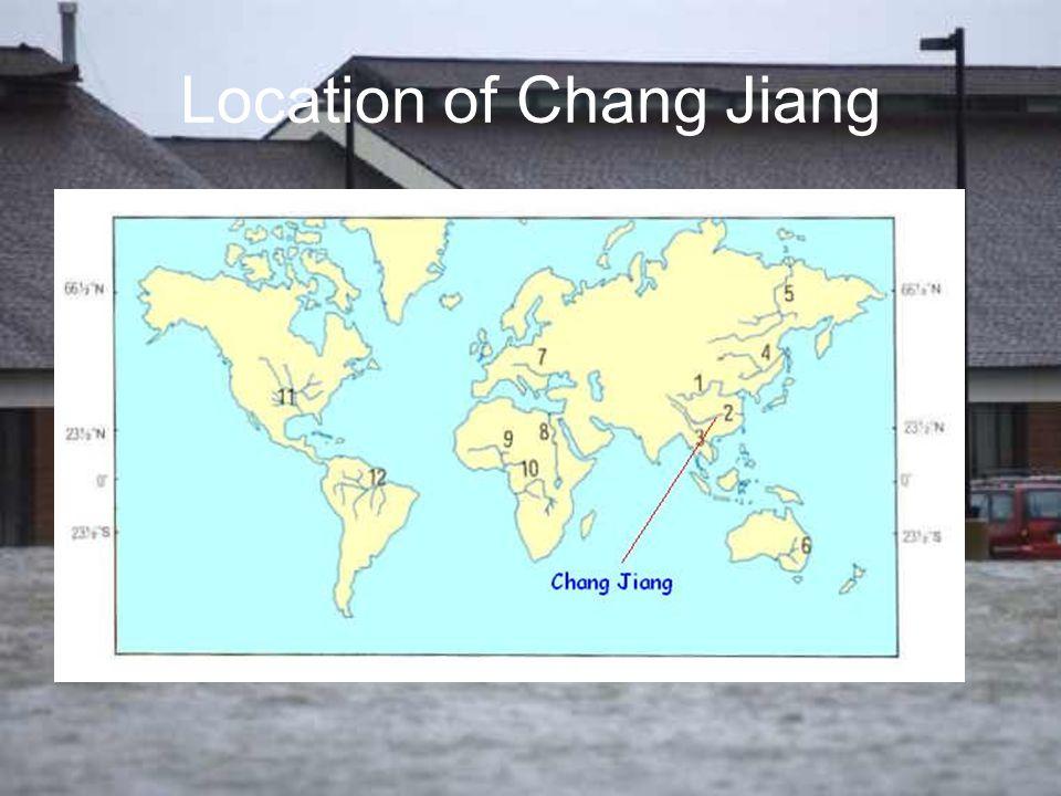 Location of Chang Jiang