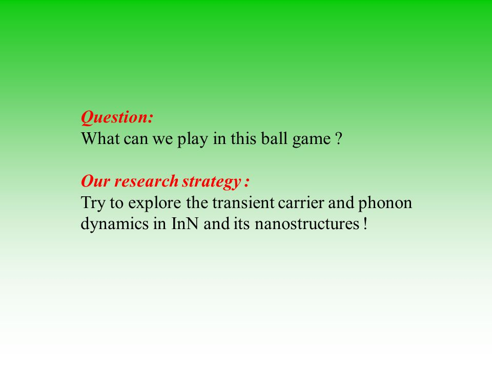Question: What can we play in this ball game .