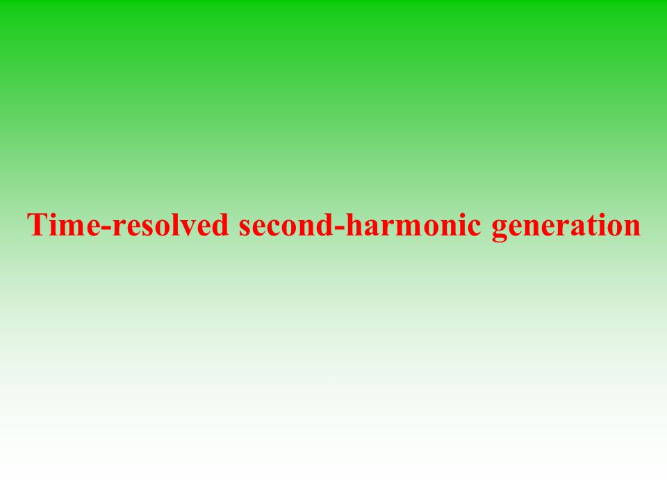 Time-resolved second-harmonic generation