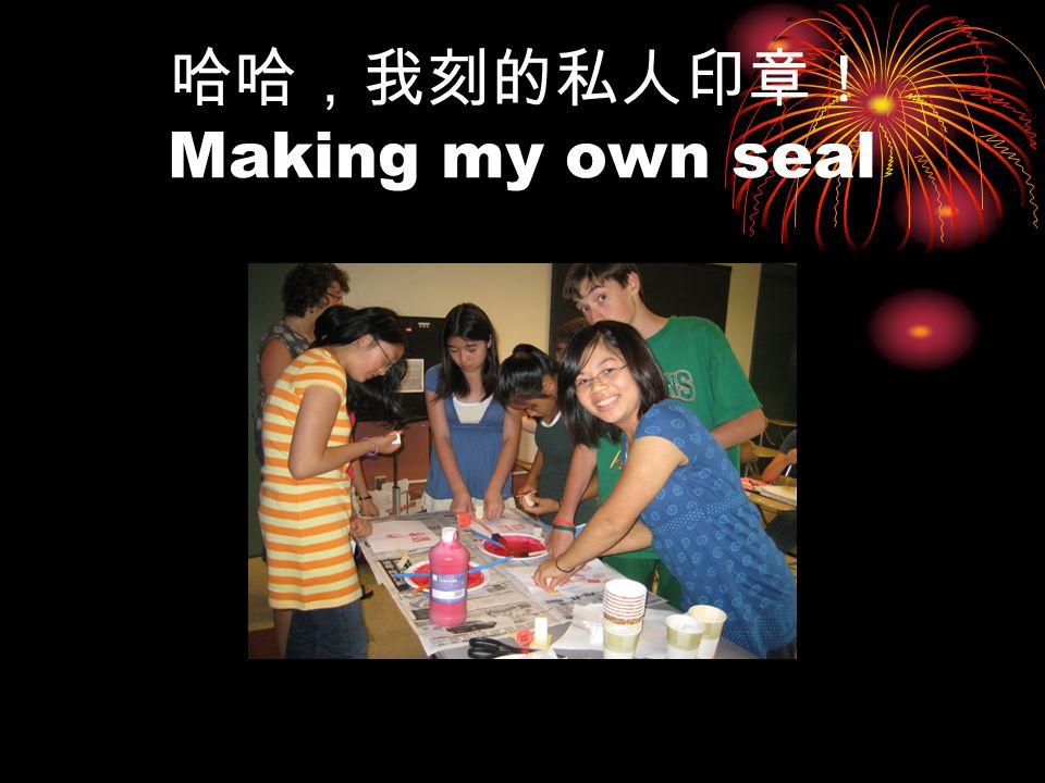 哈哈,我刻的私人印章! Making my own seal