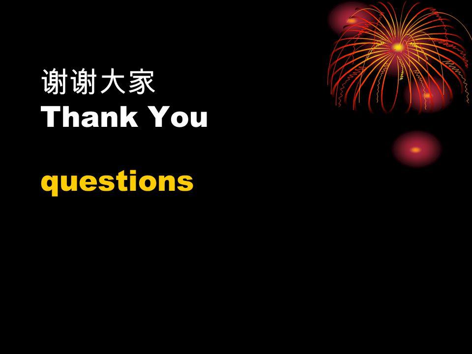 谢谢大家 Thank You questions