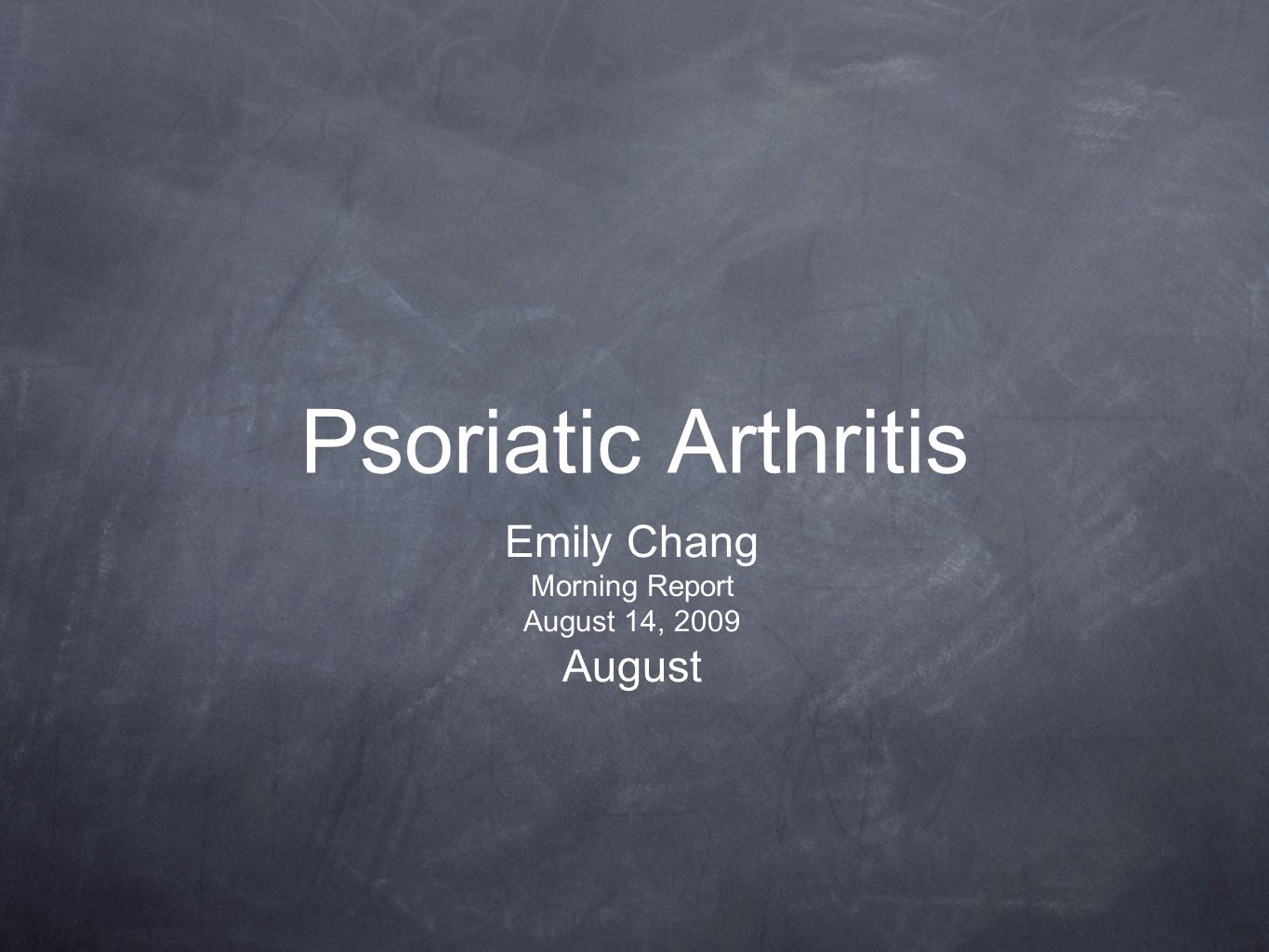 Definition Inflammatory arthritis associated with psoriasis Usually seronegative for Rheumatoid Factor Classified with HLA-B27-associated spondyloarthropathies