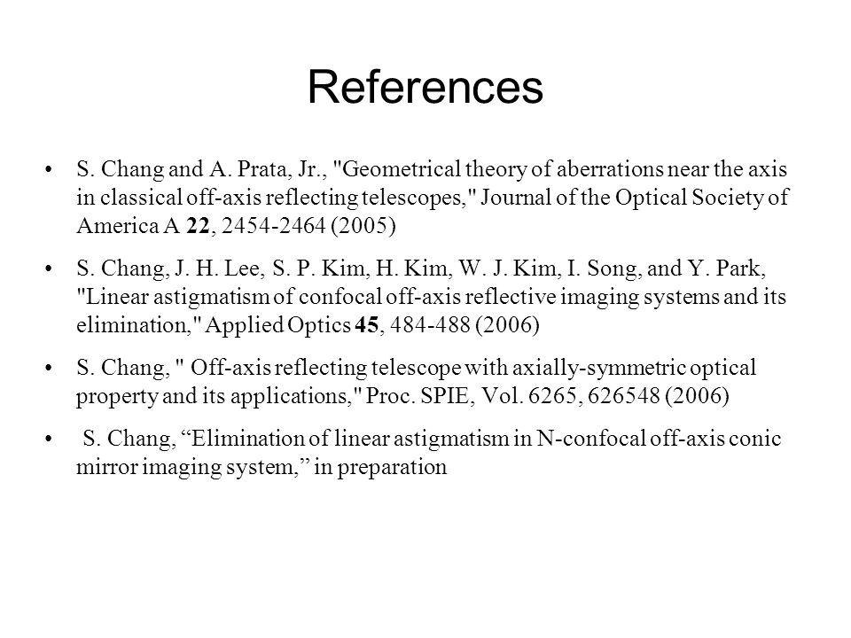 References S. Chang and A. Prata, Jr.,