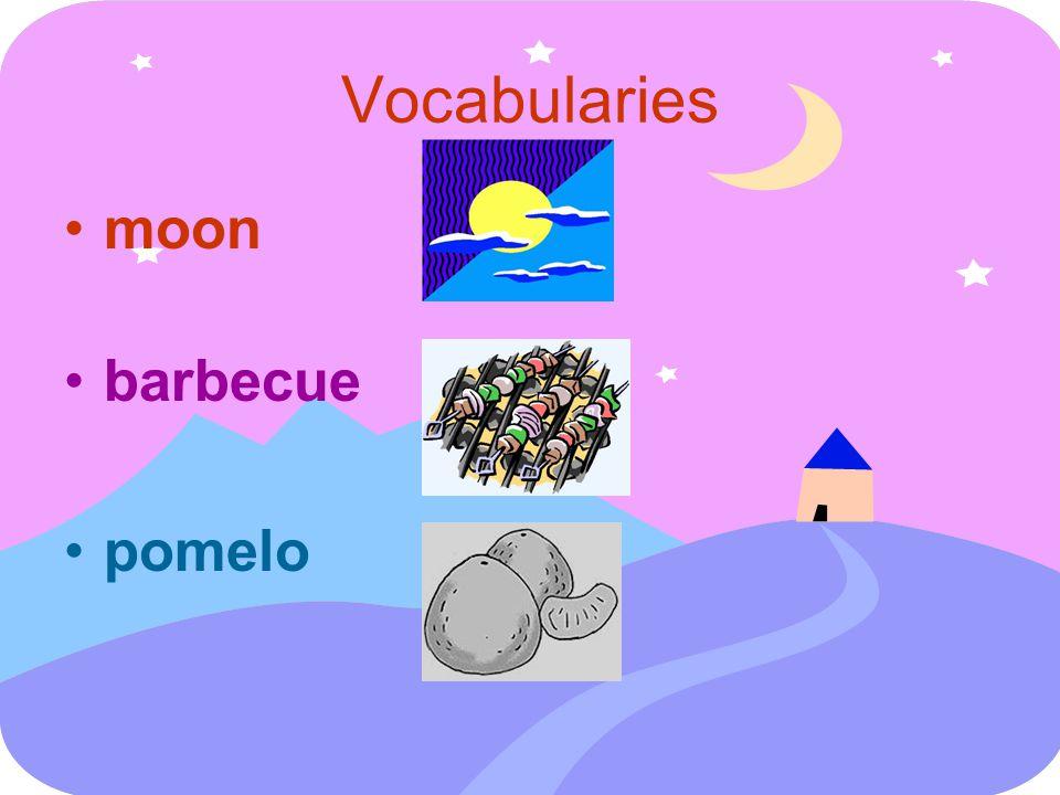Vocabularies moon barbecue pomelo