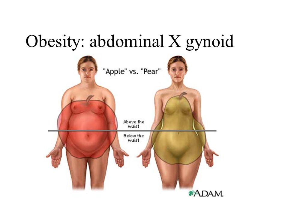 Obesity: abdominal X gynoid