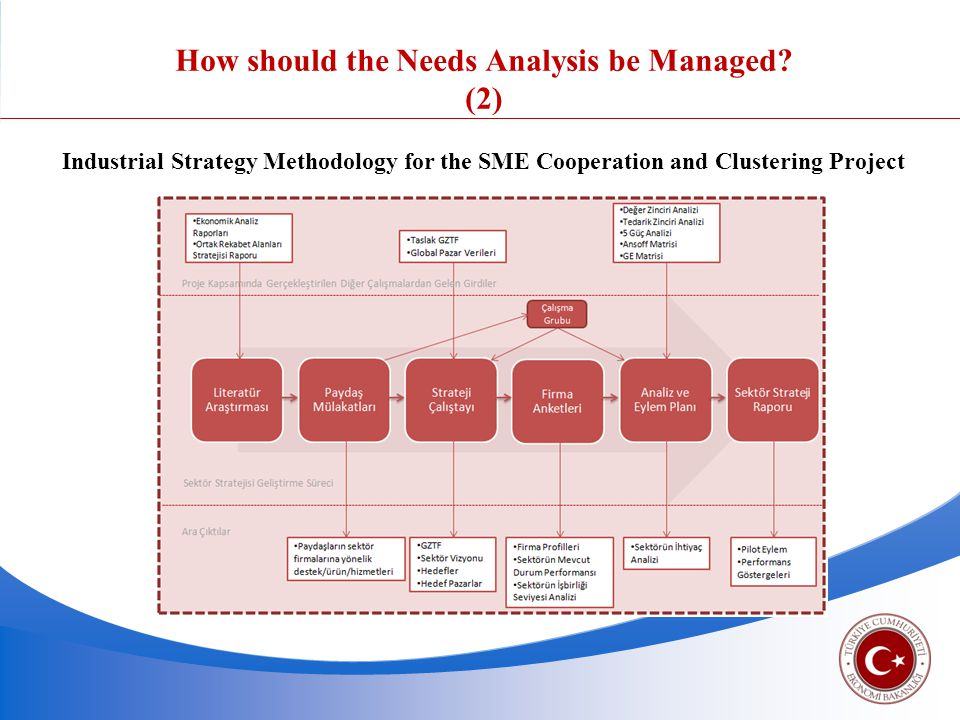 Industrial Strategy Methodology for the SME Cooperation and Clustering Project How should the Needs Analysis be Managed.