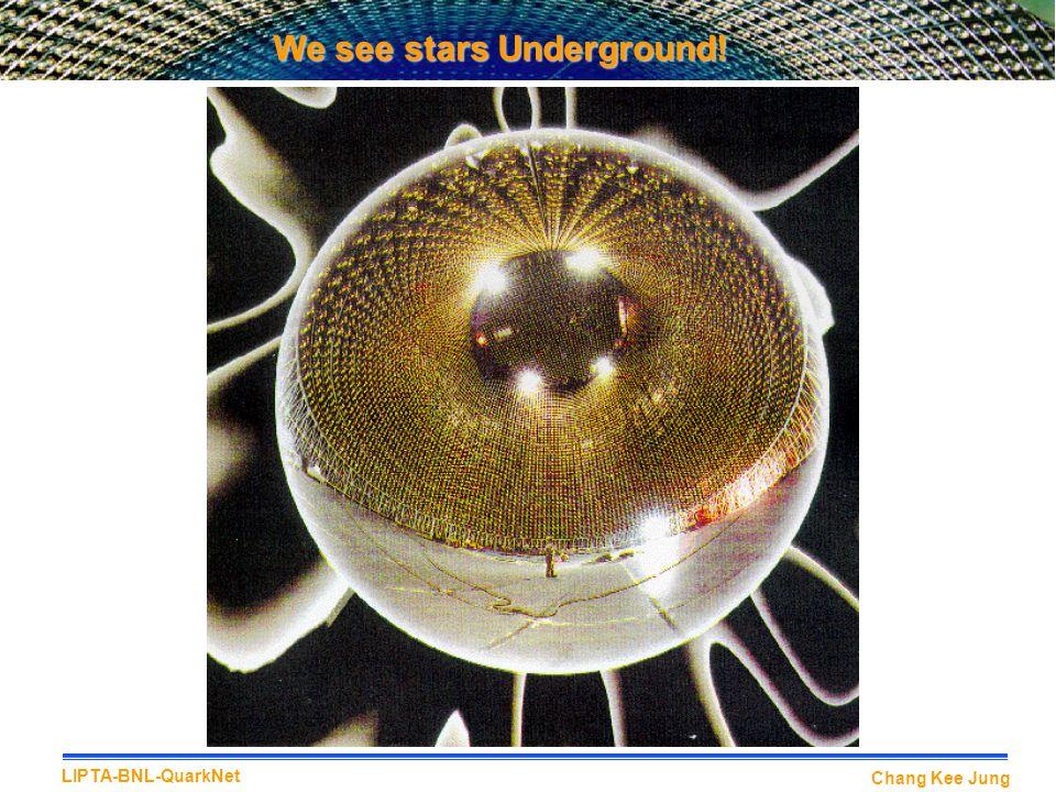 Chang Kee Jung LIPTA-BNL-QuarkNet We see stars Underground!