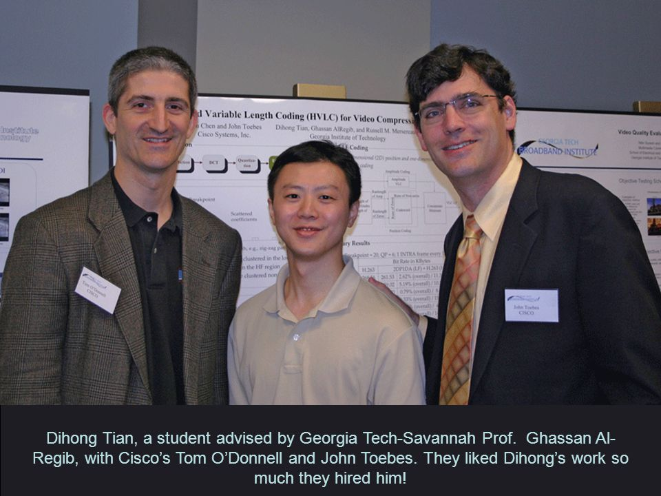 Dihong Tian, a student advised by Georgia Tech-Savannah Prof.