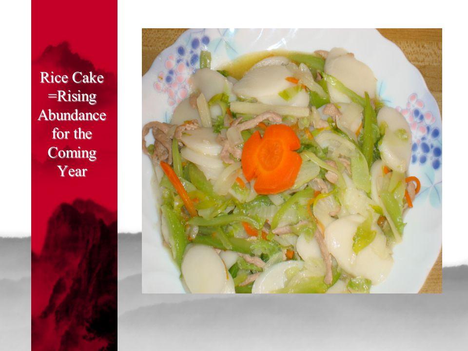 Rice Cake =Rising Abundance for the Coming Year