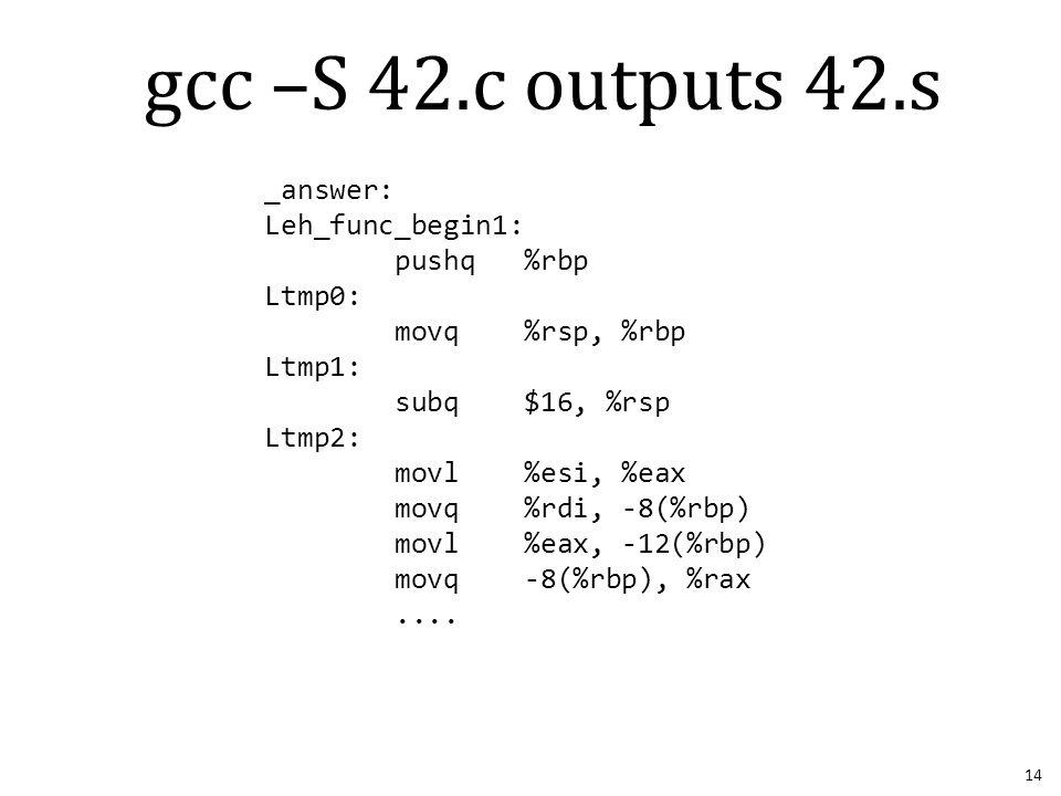 _answer: Leh_func_begin1: pushq %rbp Ltmp0: movq %rsp, %rbp Ltmp1: subq $16, %rsp Ltmp2: movl %esi, %eax movq %rdi, -8(%rbp) movl %eax, -12(%rbp) movq -8(%rbp), %rax....
