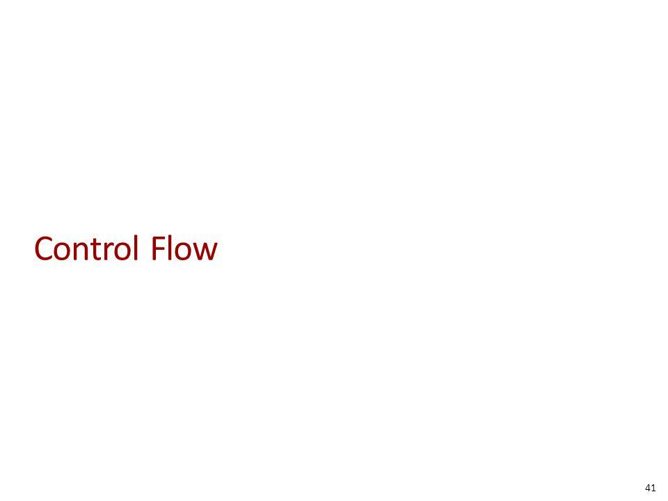 Control Flow 41