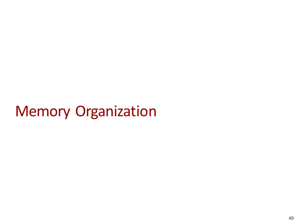 Memory Organization 49
