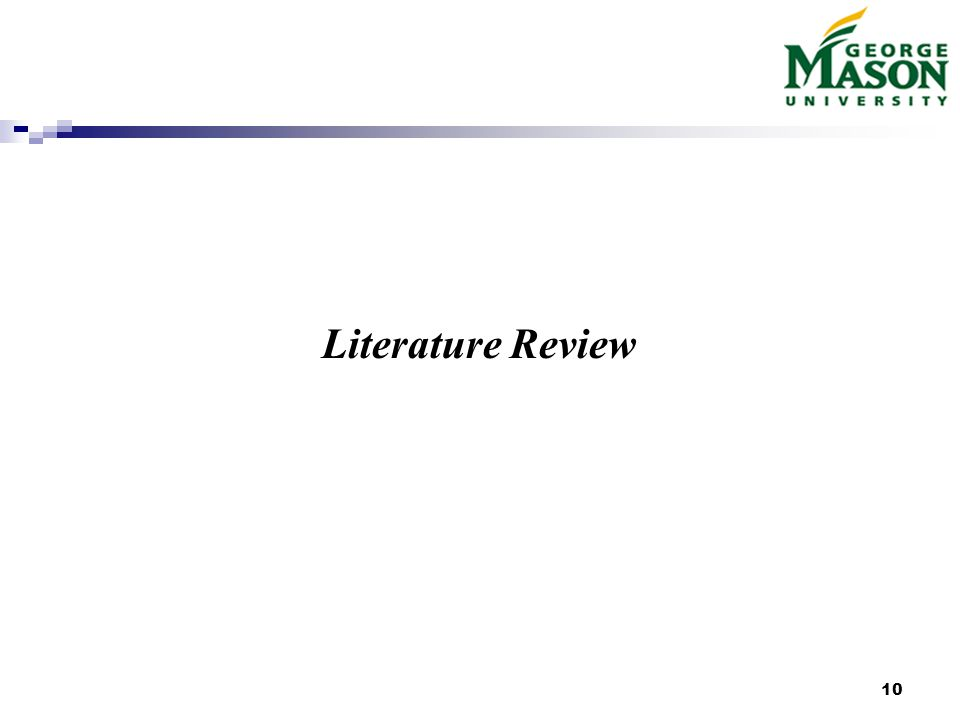 10 Literature Review