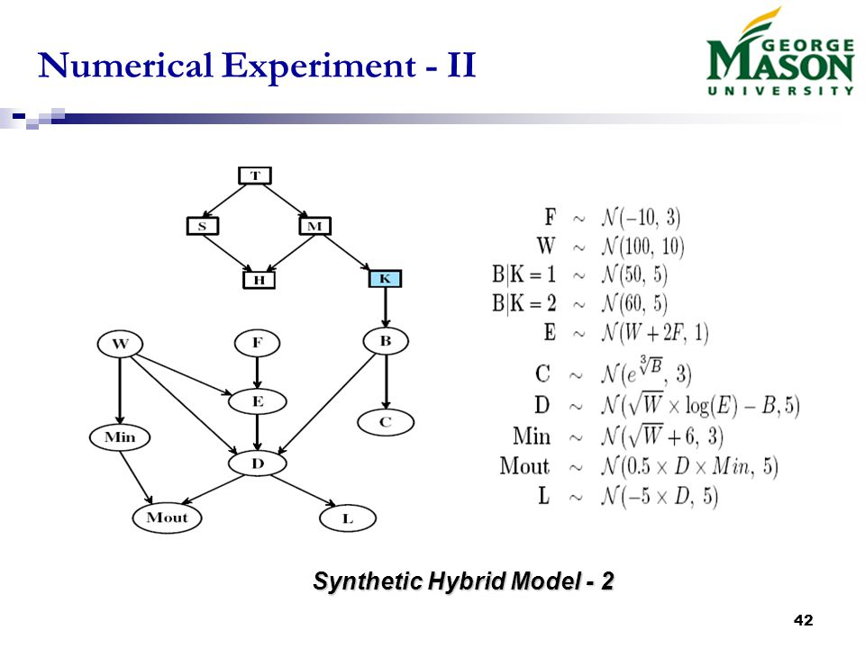 42 Numerical Experiment - II Synthetic Hybrid Model - 2