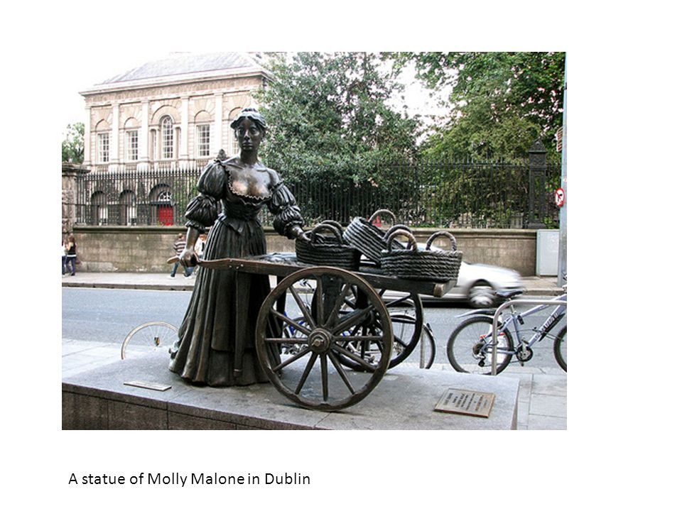 A statue of Molly Malone in Dublin