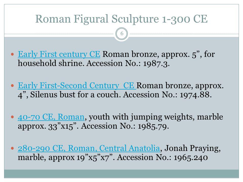 Kushan Figural Sculpture 1-325 CE 7 First Century CE Pakistan, Kushan plaque, gray schist, approx 2.75 diameter, [decorative element?] Accession No.: 1989.346.