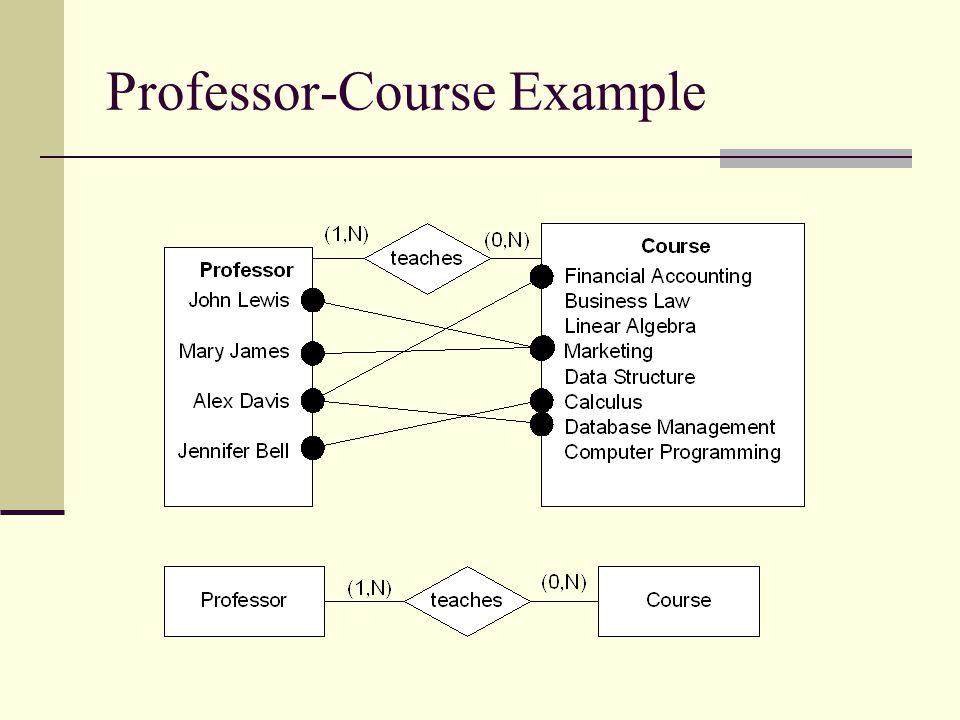 Professor-Course Example