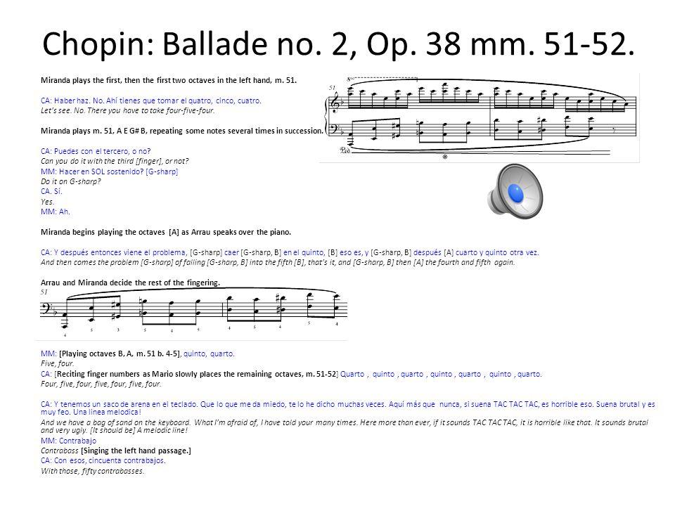 Chopin: Ballade no.2, Op. 38 mm. 51-52.