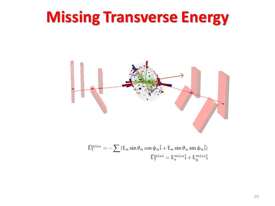Missing Transverse Energy 39