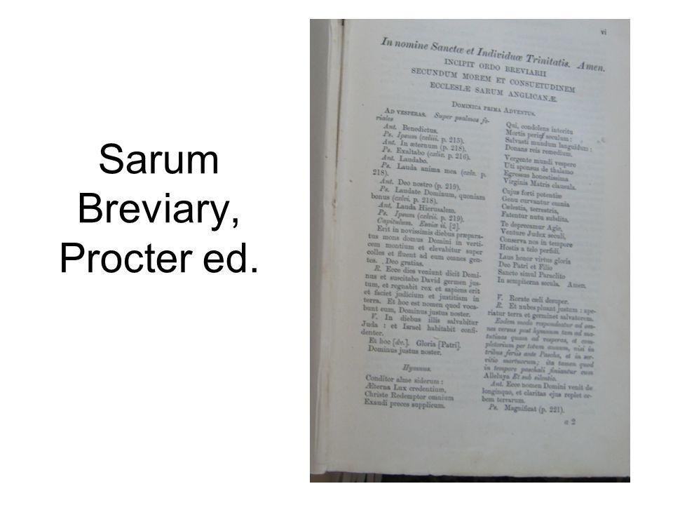 Sarum Breviary, Procter ed.
